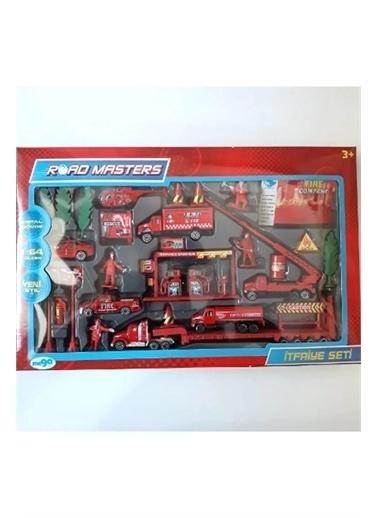 Mega Oyuncak Mega Metal Itfayeci Seti 1/64 Ölçek Metal Model 30 Parça Oyuncak Kırmızı